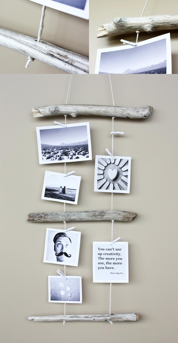 Un blog lleno de manualidades perfectas para decorar - Como hacer un marco de fotos original ...
