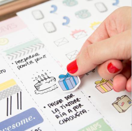 Calendarios para un 2014 genial, adhesivos chulos para organizar tu ...