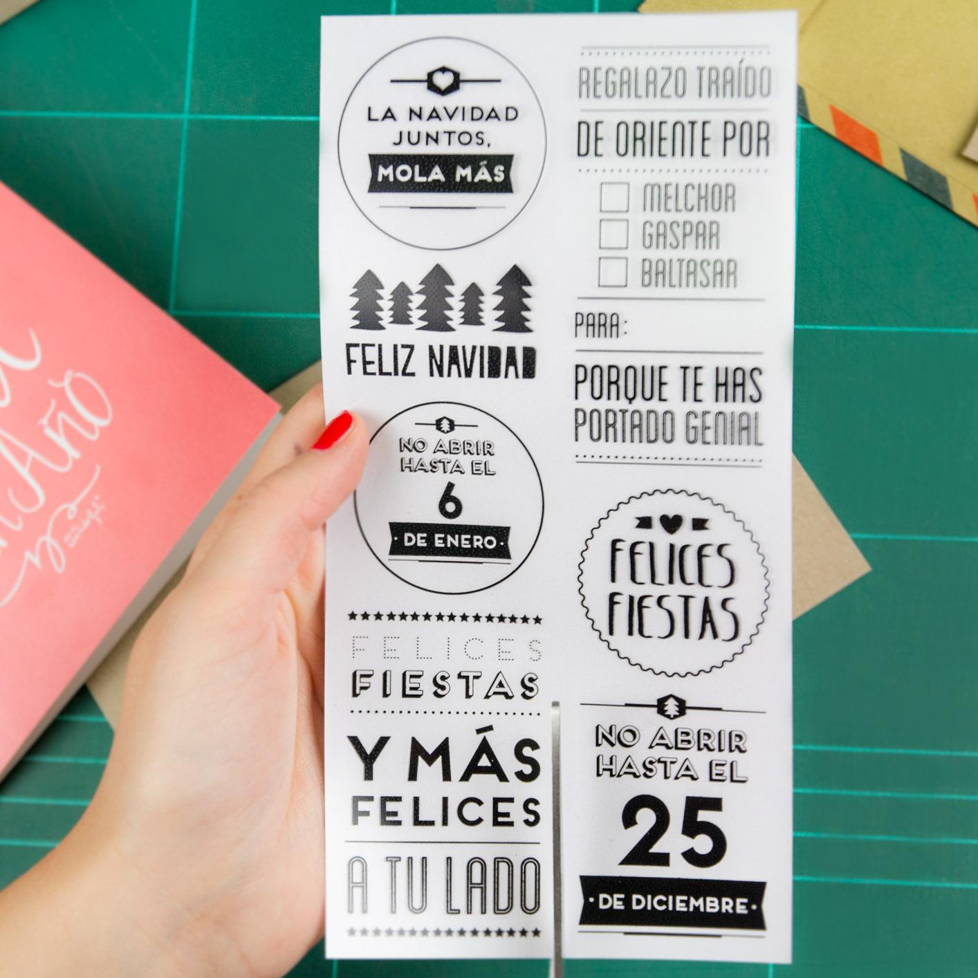 Descargable navide o II Postal para felicitar las fiestas