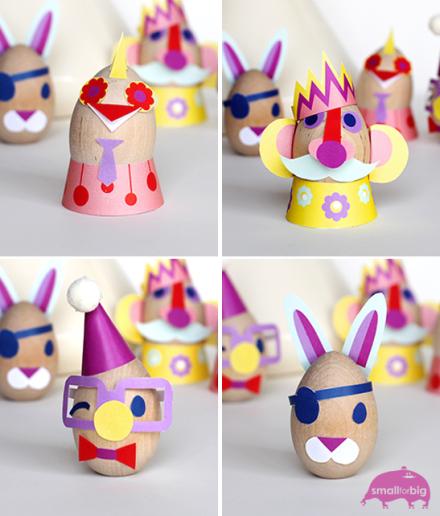 Huevos de pascua decorados con papel