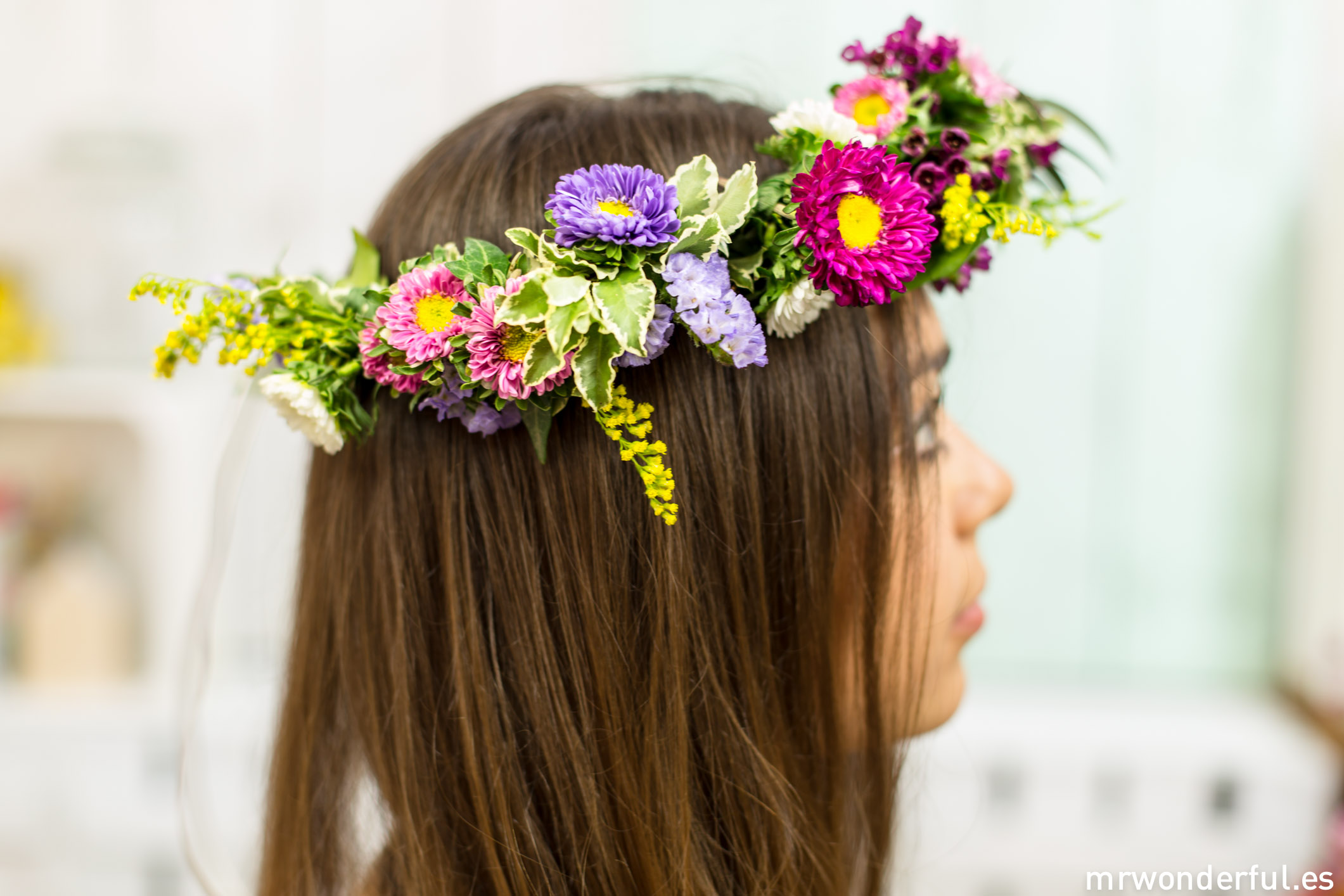 Mwonderful tutorial corona flores 167 - Coronas de flore ...