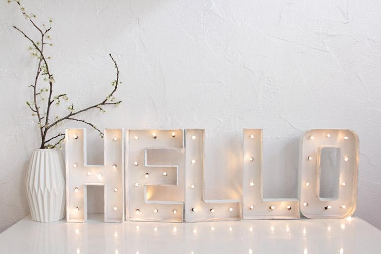 C mo hacer unas letras luminosas en casa muymolon - Casa guirlande lumineuse ...