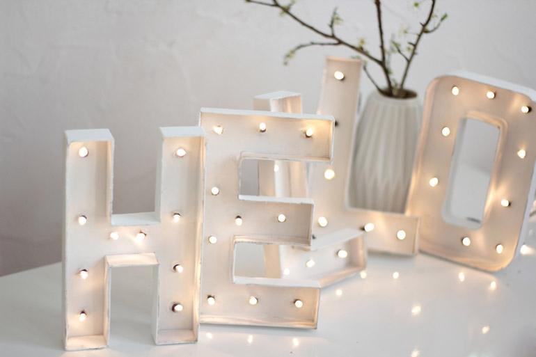 Cómo hacer unas letras luminosas en casa | muymolon