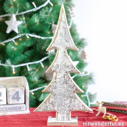 Mr.Wonderful árbol de navidad de madera rústica