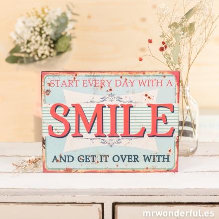 Placa metálica Smile Mr.Wonderful