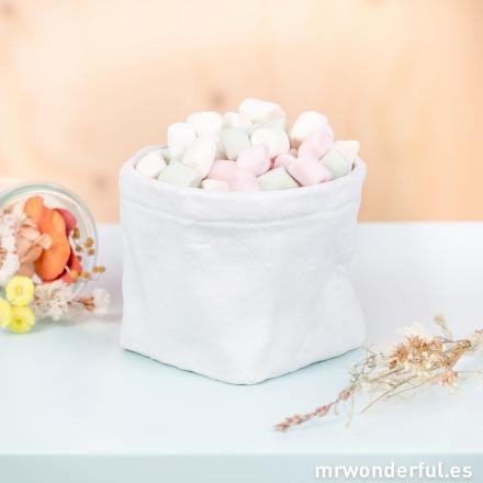 Mr.Wonderful jarrón cerámica blanco