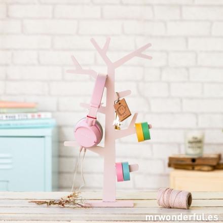 Mr.Wonderful árbol de madera rosa claro para decorar