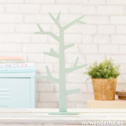 Mr.Wonderful árbol de madera mint para decorar