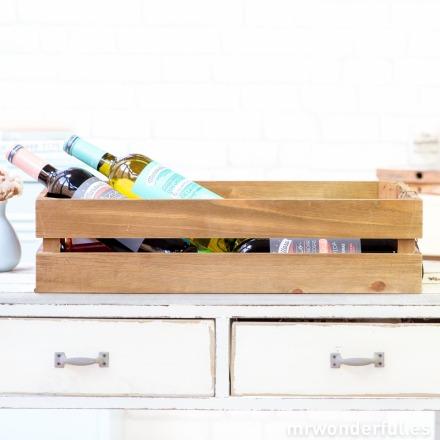 Mr.Wonderful caja de madera grande con base de malla