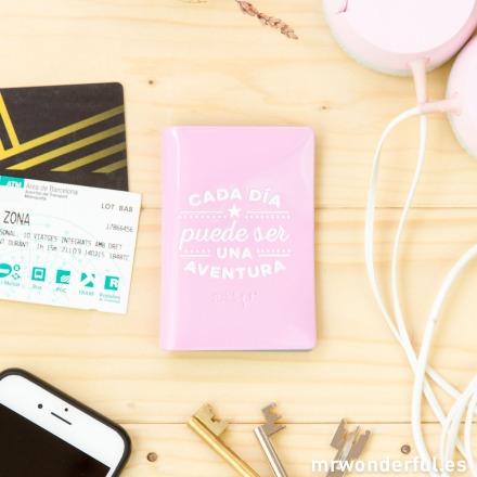 Tarjetero Mr.Wonderful Cada día puede ser una aventura rosa