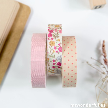 Mr.Wonderful washi tape tela adhesiva pink