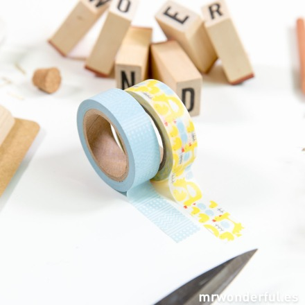 Mr.Wonderful set washi tape farm