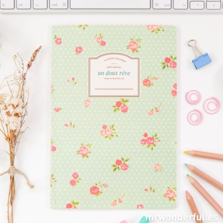 Mr.Wonderful libreta pautada color mint