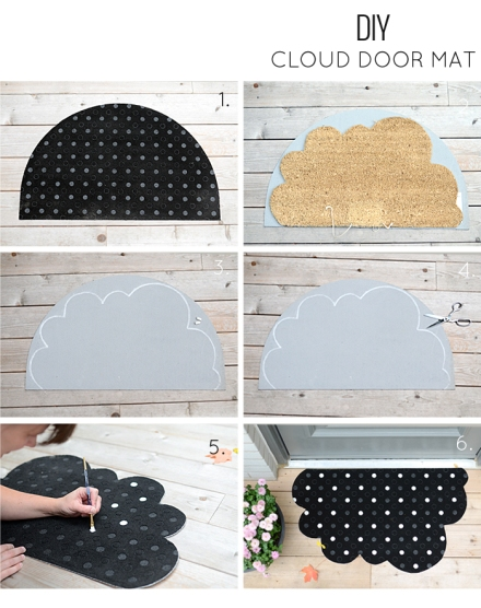 how to make a cloud door mat