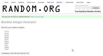 RANDOM.ORG - Integer Generator - Mozilla Firefox
