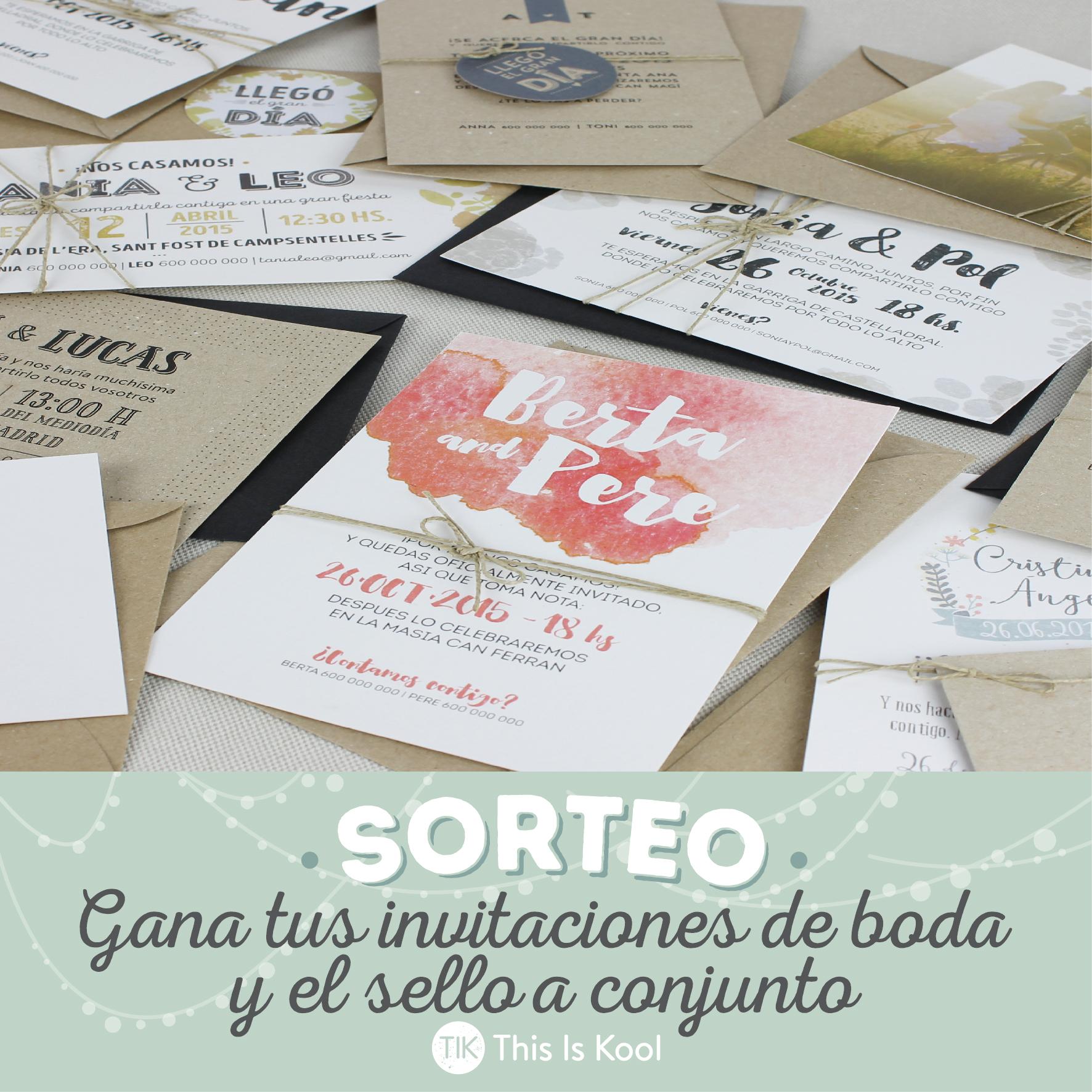 SORTEO – This Is Kool lanza nuevo catálogo de invitaciones de boda, y lo  celebran regalando Invitaciones y sello personalizado a conjunto   muymolon.com    Bloglovin'