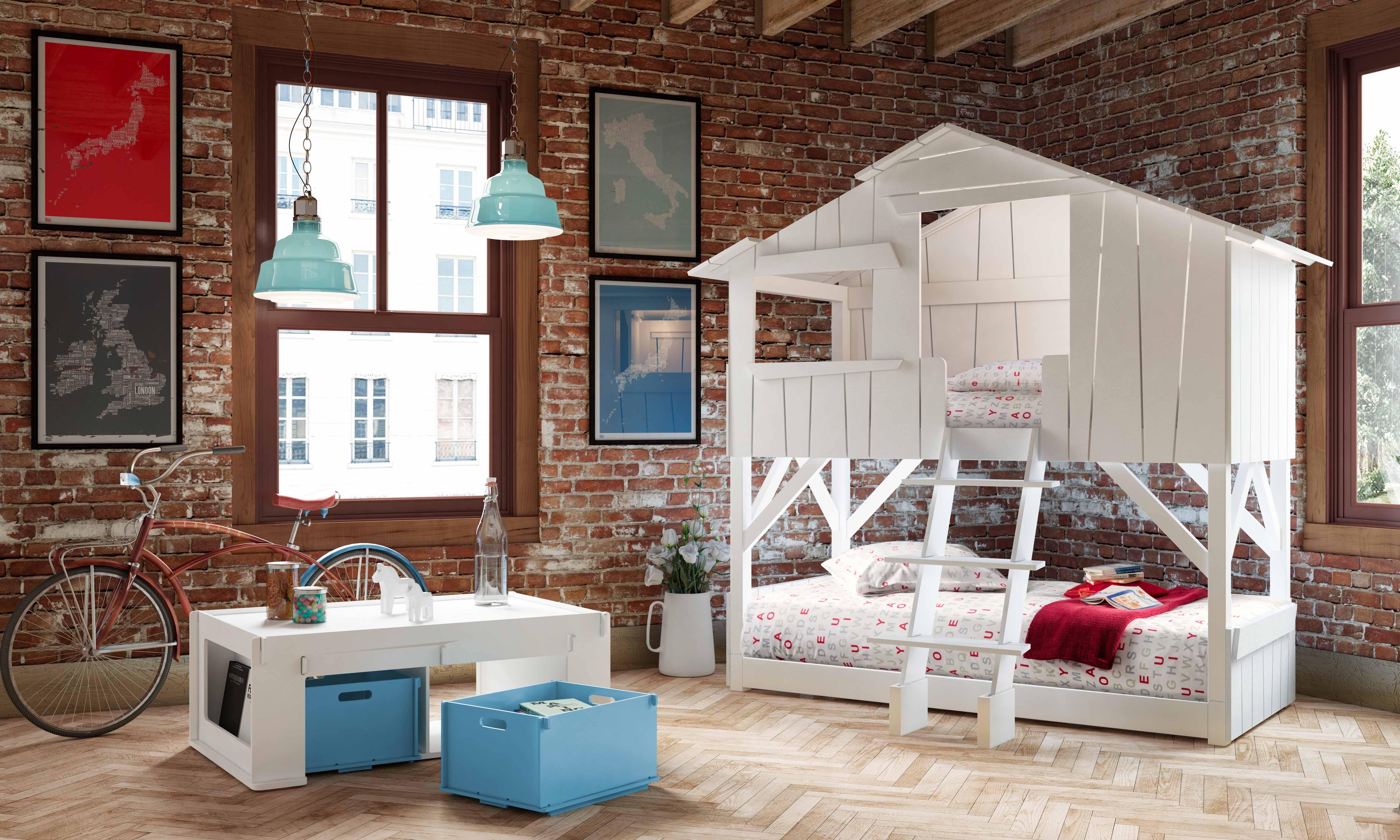 cabaña litera habitacion infantil - minimoi
